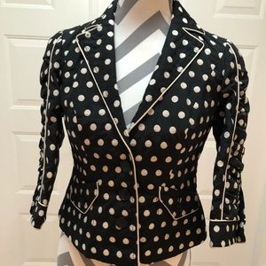POLKA DOT FITTED JACKET BY INC